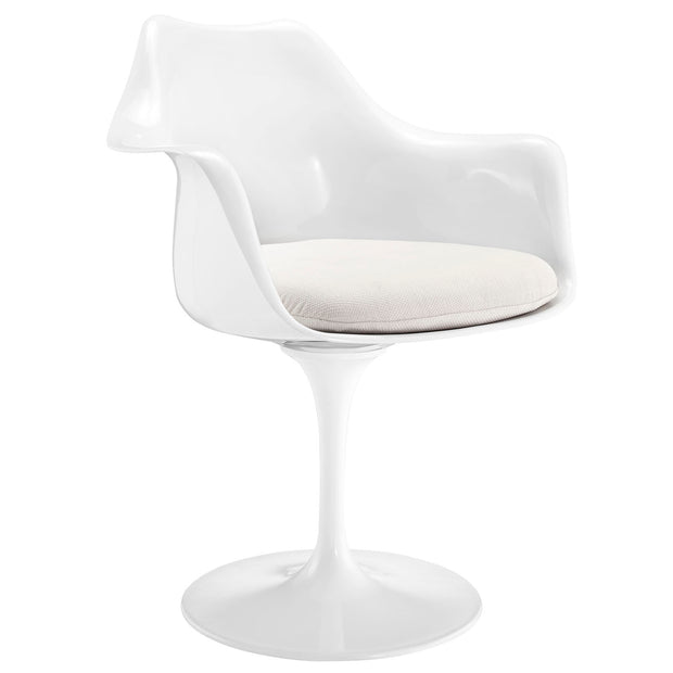 Wantism Tulip Swivel Armchair White