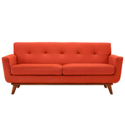 Wantism Soren Mid-Century Loveseat Red