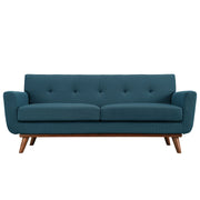 Wantism Soren Mid-Century Loveseat Deep Teal