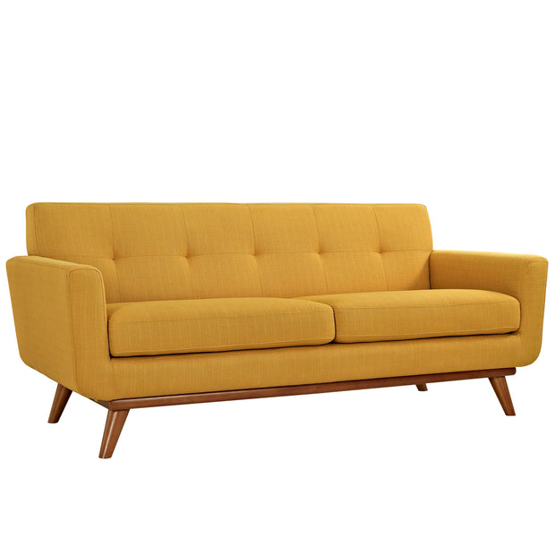 Wantism Soren Mid-Century Loveseat Yellow