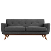 Wantism Soren Mid-Century Loveseat Dark Gray