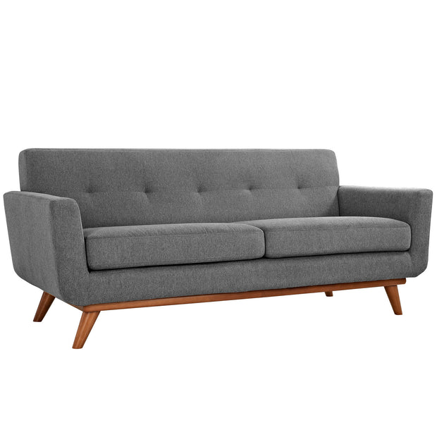 Wantism Soren Mid-Century Loveseat Gray