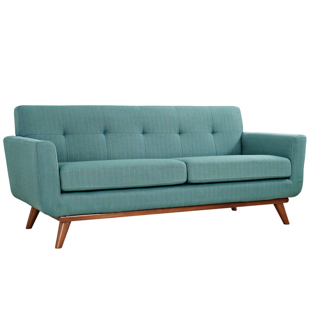 Wantism Soren Mid-Century Loveseat Light Blue