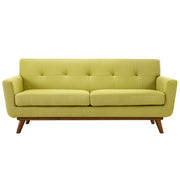 Wantism Soren Mid-Century Loveseat Light Green
