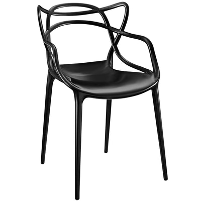 Wantism Twist Side Chair Black