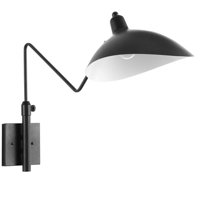 Mid-Century Modern View Wall Lamp Light Fixture, Black - Wantism