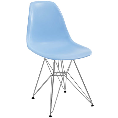 Wantism Ansel Side Chair with Eiffel Base Light Blue