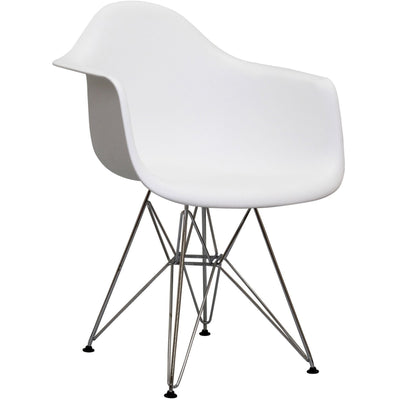 Wantism Ansel Armchair with Eiffel Base White
