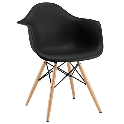 Wantism Ansel Armchair with Natural Legs Black
