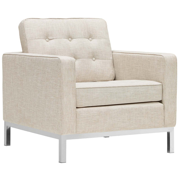 Wantism Evans Tufted Armchair Beige