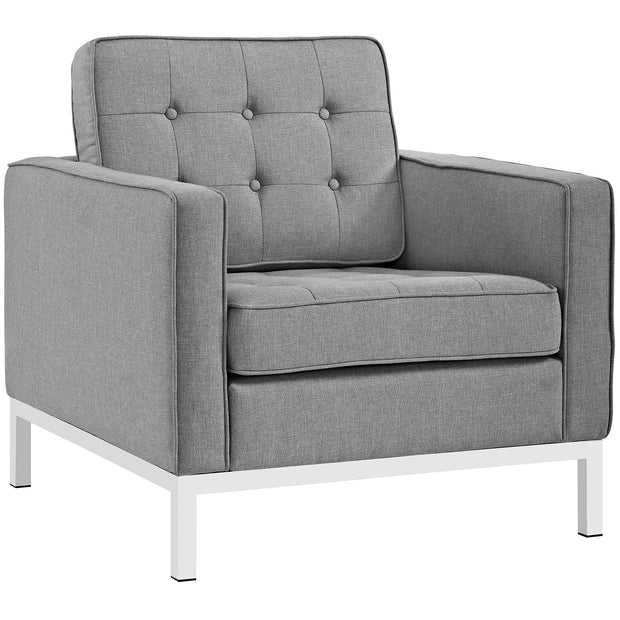 Wantism Evans Tufted Armchair Gray