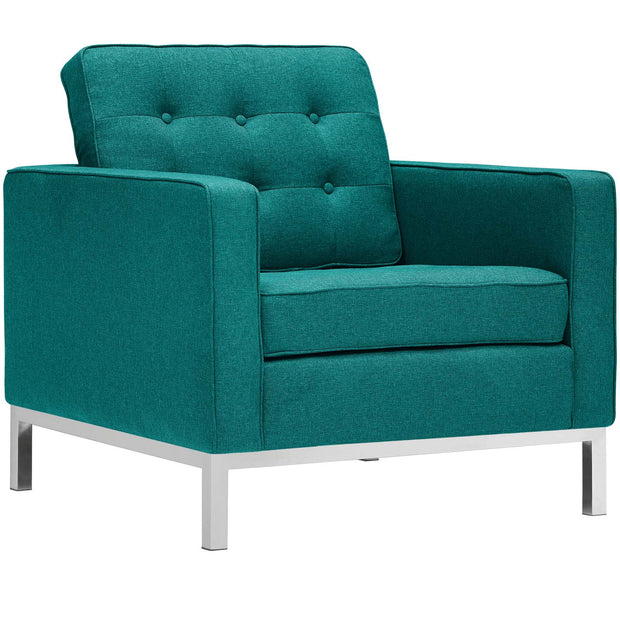 Wantism Evans Tufted Armchair Teal