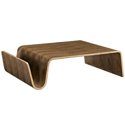 Mid-Century Modern Polaris Wood Coffee Accent Table, Walnut - Wantism