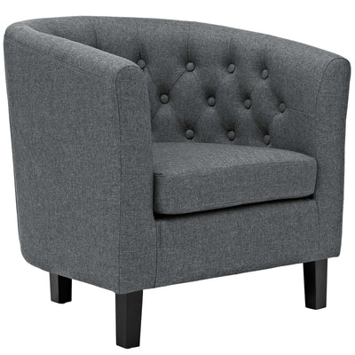 Wantism Clemens Tufted Fabric Armchair Dark Gray