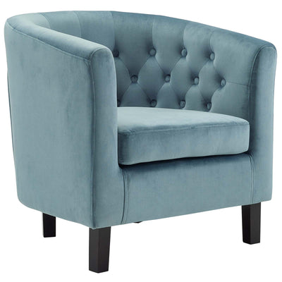 Wantism Clemens Velvet Armchair Light Blue