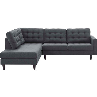 Wantism Anson Left-Facing Corner Sectional Sofa Dark Gray