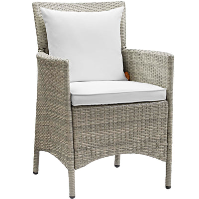 Wantism Addison Outdoor Rattan Armchair - Gray White