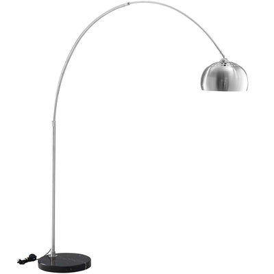 Wantism Mid-Century Floor Lamp with Round Black Marble Base