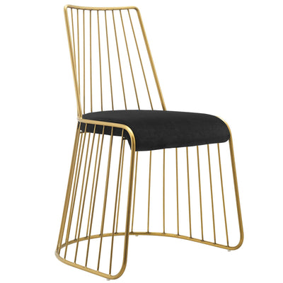 Wantism Adeline Velvet Side Chair Black