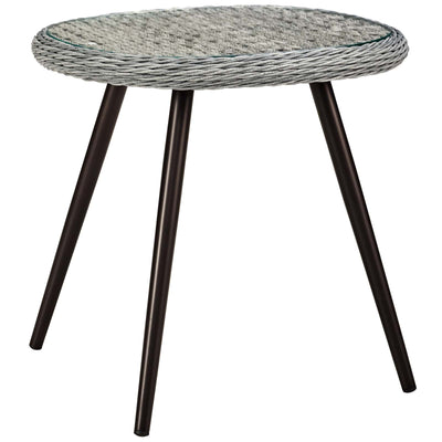 Wantism Ellis Outdoor Glass Top Side Table