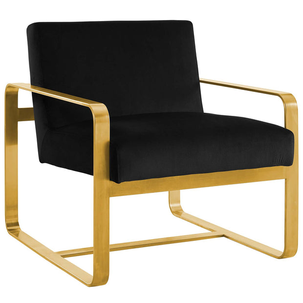 Wantism Evelyn Velvet Armchair Black