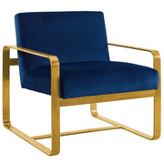 Wantism Evelyn Velvet Armchair Navy