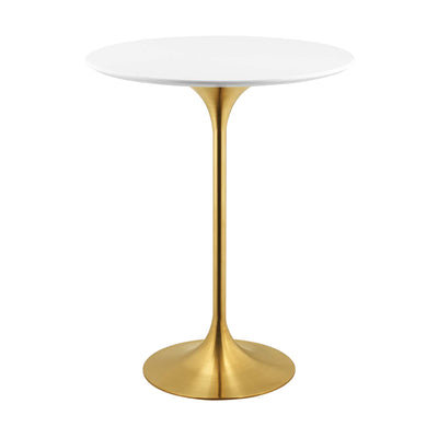Wantism Tulip Gold Bar Table - 28""