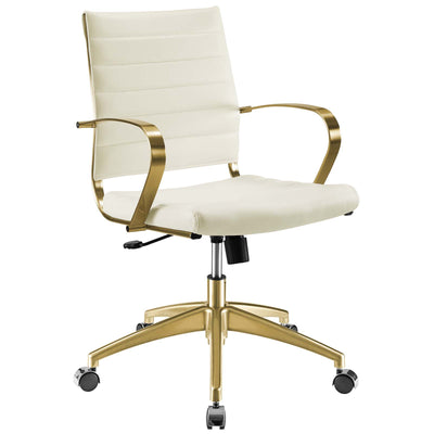 Wantism Mara Gold Office Chair White