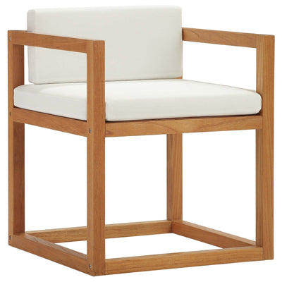 Modern Patio Newbury Outdoor Armchair Teak Wood, Teak - Wantism