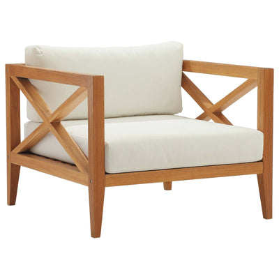 Modern Northlake Outdoor Armchair Teak Wood , Teak - Wantism