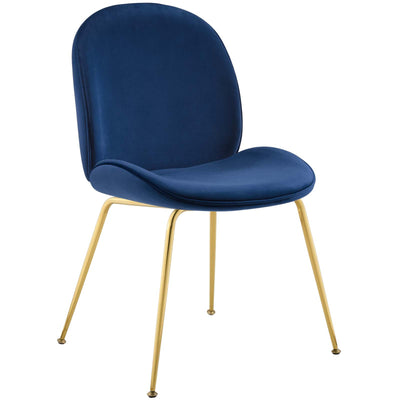 Wantism Sabine Velvet Side Chair Navy