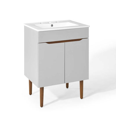Scandinavian Modern Bathroom Vanity Cabinet Storage, Light Gray - Wantism