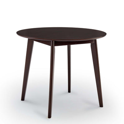 Mid-Century Modern Vision Round Dining Table, Espresso - Wantism