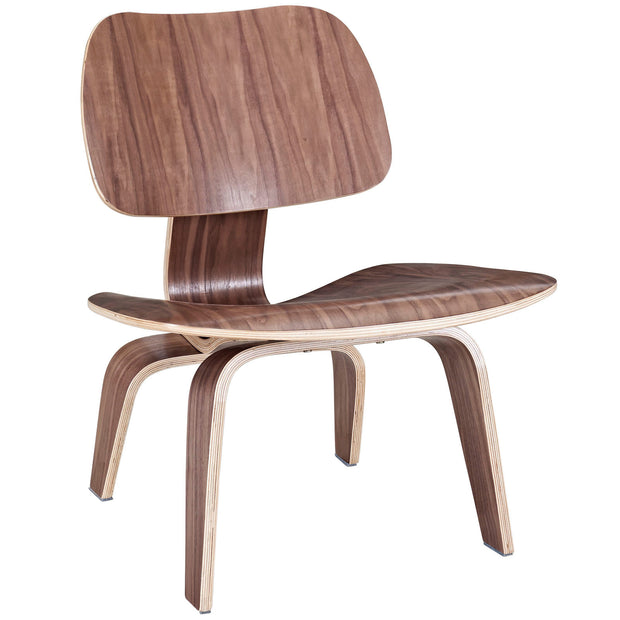Wantism Anders Plywood Lounge Chair Walnut