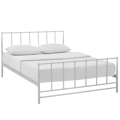 Wantism Elinor Platform Bed - King White