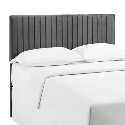 Wantism Velvet Tufted Headboard - King/Cal King Gray