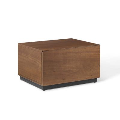Mid-Century Modern Caima Bedroom Nightstand Accent Table, Walnut - Wantism