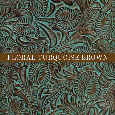 Floral Turquoise Brown