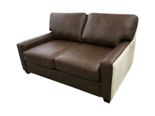 Restoration Western Contemporary Leather Love Seat