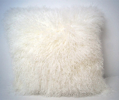 Tibetan Sheep Throw Pillow - White