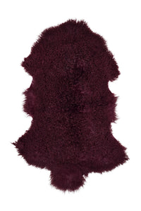 Tibetan Sheep Pelt - Cabernet