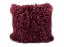 Load image into Gallery viewer, Tibetan Sheep Throw Pillow - Cabernet