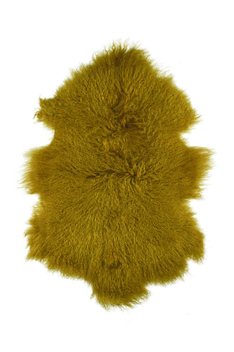 Tibetan Sheep Pelt - Mustard