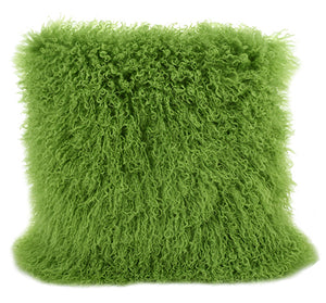 Tibetan Throw Pillow - Greenery
