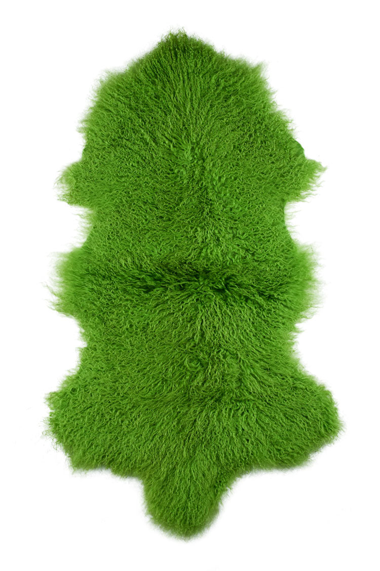 Tibetan Sheep Pelt - Greenery