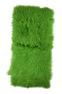 Tibetan Sheep Throw - Greenery