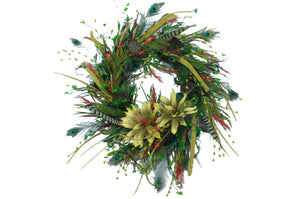 "24"" Wreath with Eva flowers"