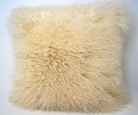 Tibetan Sheep Throw Pillow - Off White