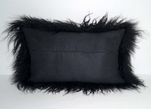 Tibetan Throw Pillow - Black