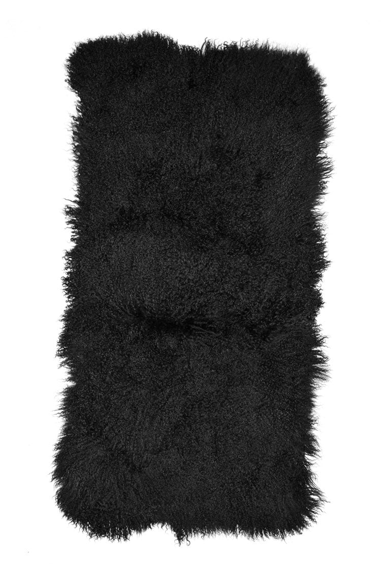 Tibetan Sheep Throw - Black